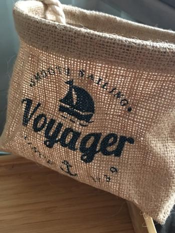 "Pochette en toile"" Voyager """
