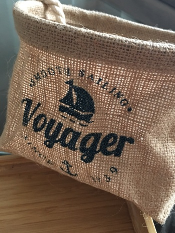 "Pochette en toile"" Voyager """
