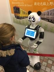 Métro Ueno , le guide est un robot Panda !