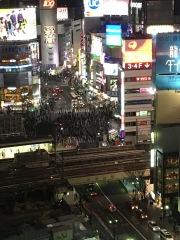 Shibuya vue d'Hikarie