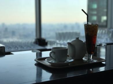 Petit thé avec vue ...