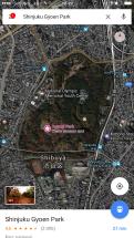 Sur Google Map , les Spots de floraison sont indiqués