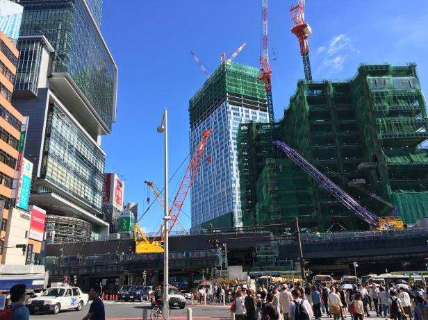 Shibuya en travaux ...