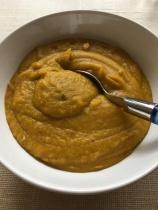 ma soupe est finalement une purée ... plus facile à manger pour la petite ...