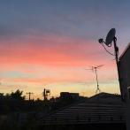 nous aussi on a eu de beaux couchers de soleil ( à 18h30)