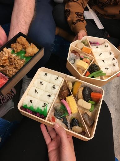 Nos bentos dans le Shinkansen