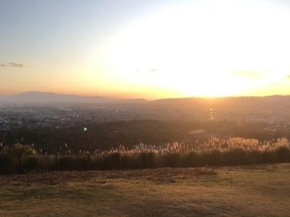 La vue du haut du Mont Wakakusa