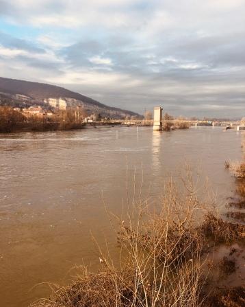 La Saône , pont de Rochetaillée