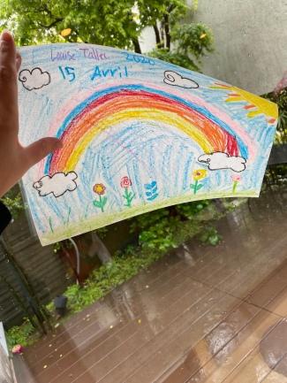 On a peint des arc-en-ciel quand il pleuvait
